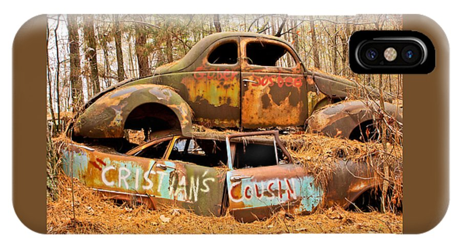 Junk Yard IPhone X Case featuring the photograph Cristian's Cousin by Tom and Pat Cory