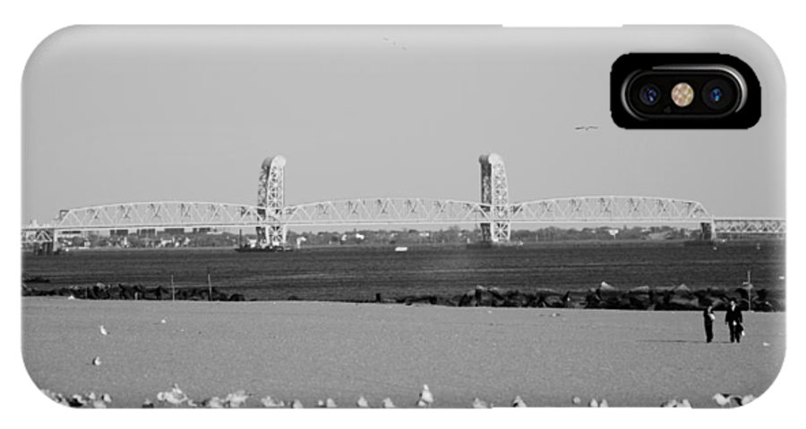 Brooklyn IPhone X Case featuring the photograph Cross Bay Bridge In Black And White by Rob Hans