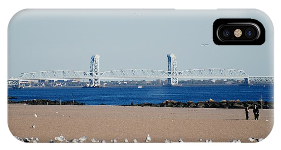 Brooklyn IPhone X Case featuring the photograph Cross Bay Bridge by Rob Hans