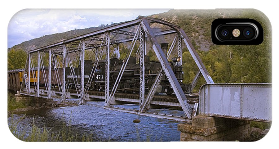 Cumbres & Toltec IPhone X Case featuring the photograph Crossing The Animas In Durango by Tim Mulina