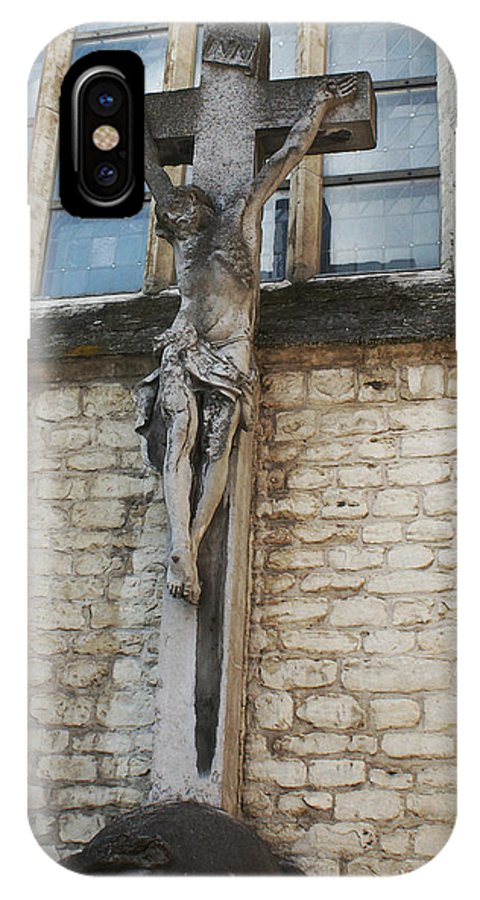 Christ IPhone X Case featuring the photograph Crucifixion Of Kortrijk by Jerrett Dornbusch