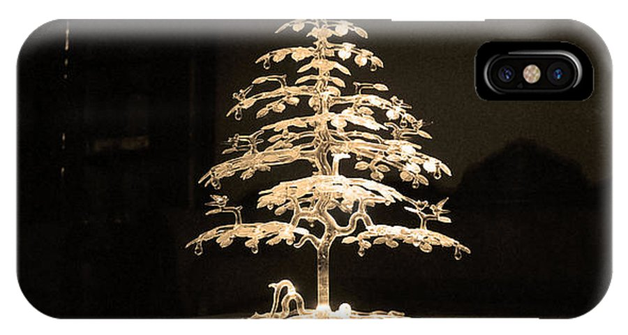 Crystal IPhone X Case featuring the photograph Crystal Tree by Sumit Mehndiratta