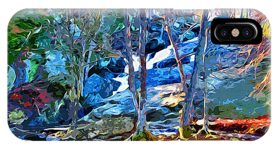 Catoctin Mountain Park IPhone X Case featuring the digital art Cunningham Falls by Stephen Younts