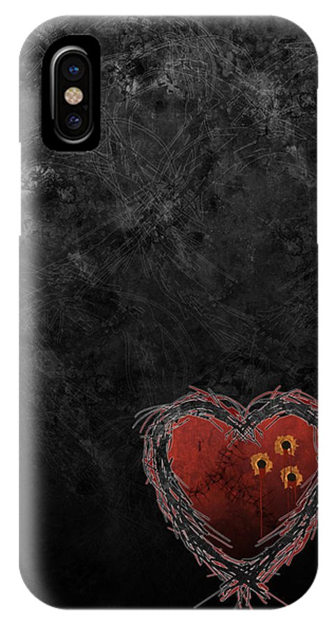 Heart IPhone X Case featuring the digital art Cupid's Upgrade by Kenneth Armand Johnson