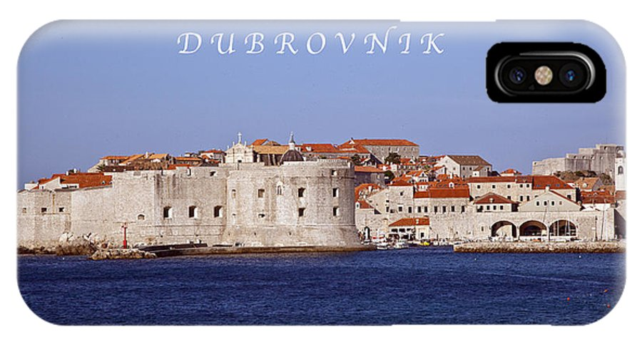 Dubrovnik IPhone X / XS Case featuring the photograph D U B R O V N I K by Madeline Ellis