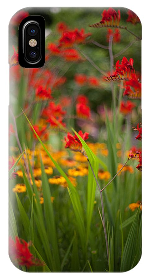 Flower IPhone X / XS Case featuring the photograph Dance Of The Flowers by Mike Reid