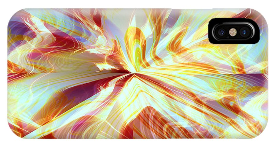 Flames IPhone X Case featuring the digital art Dancing With Fire by Shana Rowe Jackson