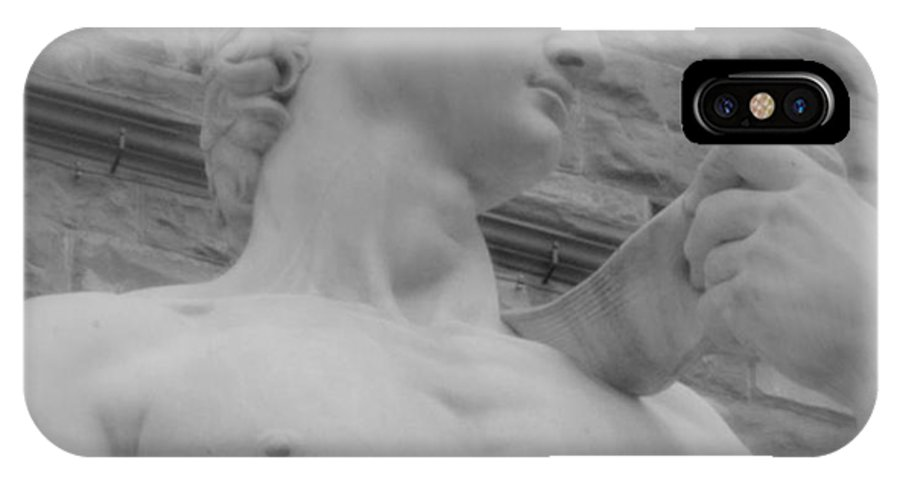Florence IPhone X Case featuring the photograph David In Soft Focus by Caroline Stella
