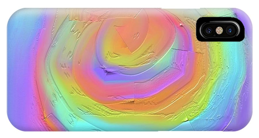 Digital Art IPhone X Case featuring the painting Dayglo Delight by Naomi Jacobs