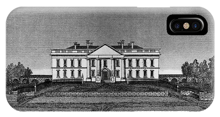 1820 IPhone X Case featuring the photograph D.c.: White House, 1820 by Granger