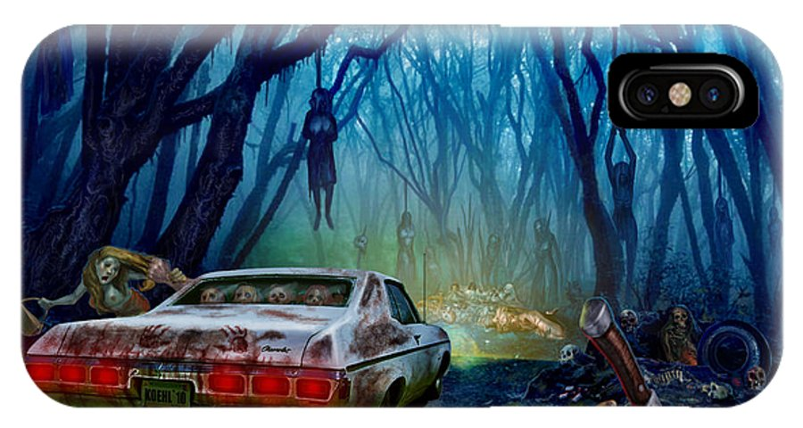 Cars IPhone X Case featuring the mixed media Dead End by Tony Koehl