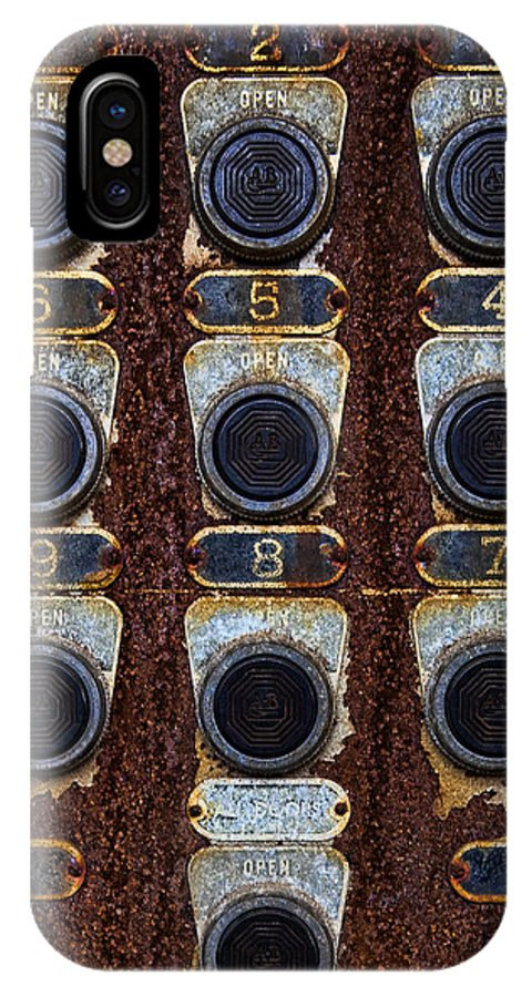 Death Row IPhone X Case featuring the photograph Death Row Cell Buttons by Jack Turkel