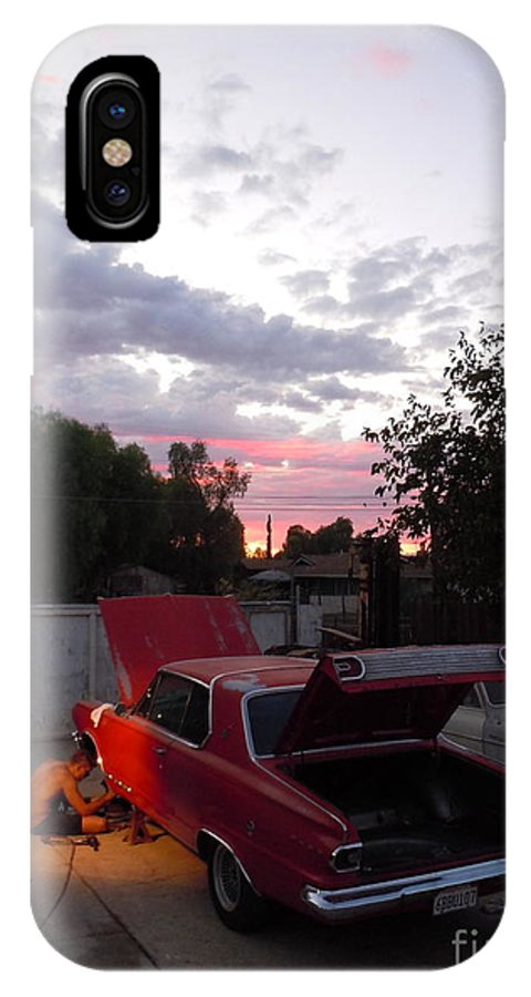 Sunset IPhone X Case featuring the photograph Dedication by Customikes Fun Photography and Film Aka K Mikael Wallin