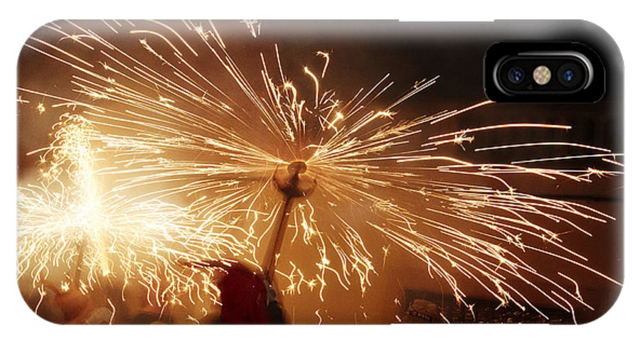 Fuego IPhone X Case featuring the photograph Demon Sparking by Agusti Pardo Rossello