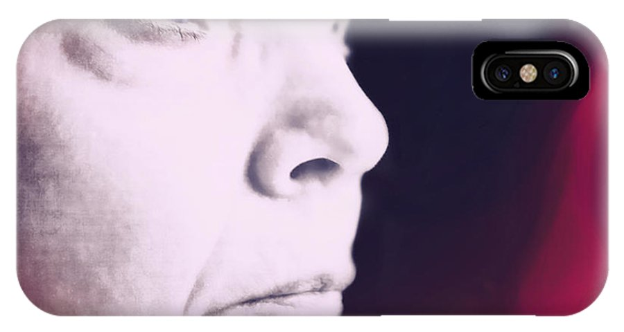Face IPhone X Case featuring the photograph Depression by Susan Leggett