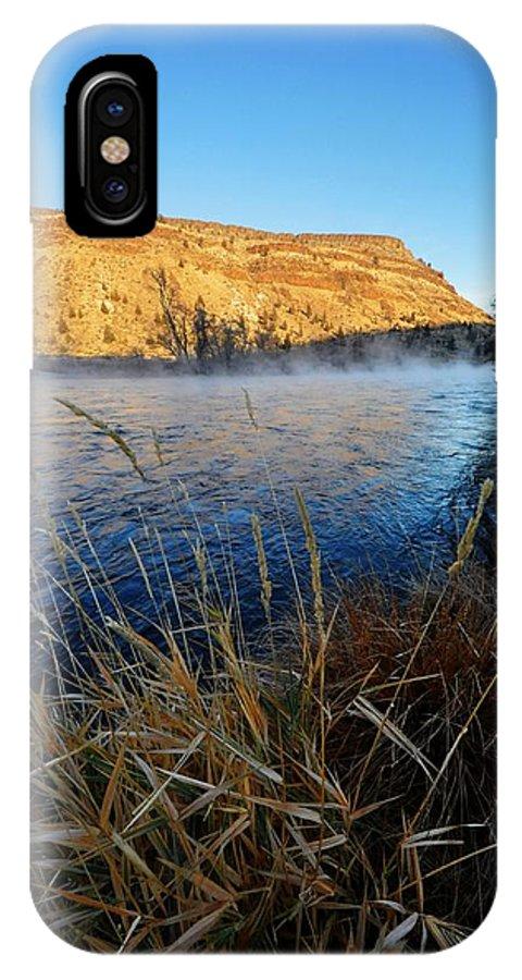 Deschutes River IPhone X Case featuring the photograph Deschutes River Steam by Noah Cole