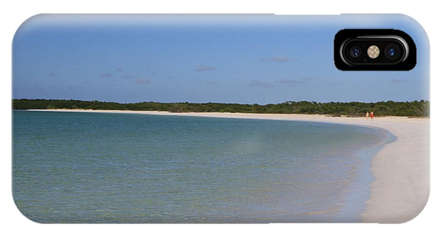 Beach IPhone X Case featuring the photograph Deserted Cuban Beach by Gord Patterson