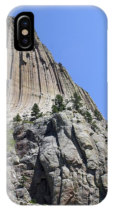 Devil's Tower IPhone X Case featuring the photograph Devil's Tower 2 by Living Color Photography Lorraine Lynch
