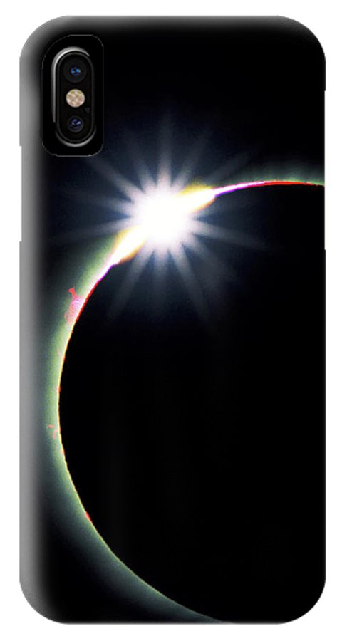 newest cfbf4 5c238 Diamond Ring Effect During Solar Eclipse IPhone X Case