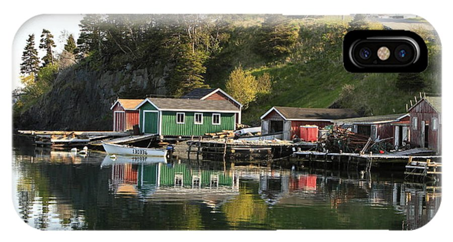 Newfoundland IPhone X Case featuring the photograph Dildo Newfoundland by Gord Patterson
