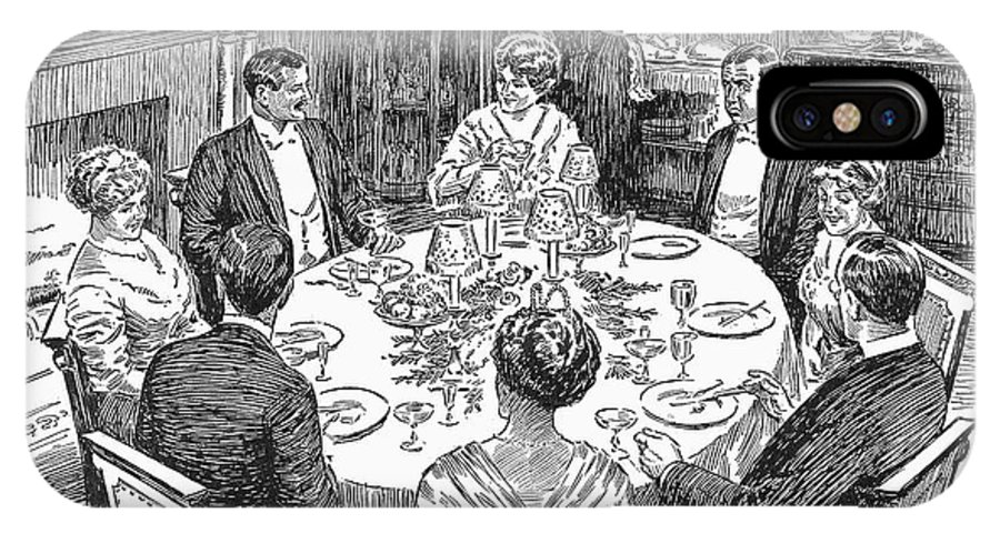 1915 IPhone X Case featuring the photograph Dinner Party, 1915 by Granger