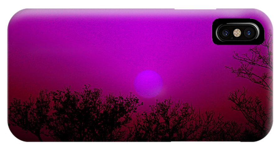 Sun IPhone X Case featuring the photograph Dirt Storm Sunset With Added Colors by Robert D Brozek