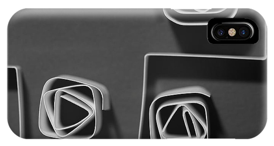 Paper IPhone X Case featuring the photograph Divide by Gabriela Insuratelu
