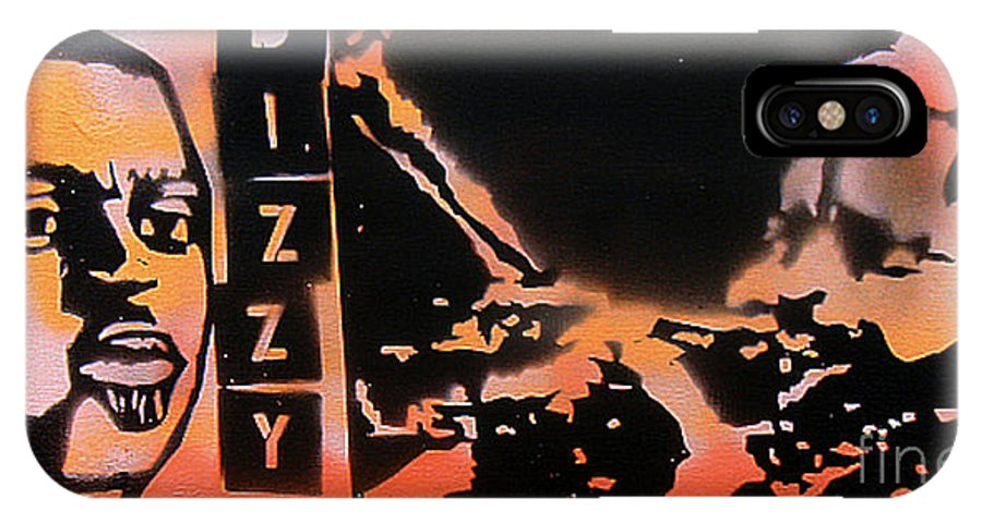 Jazz IPhone X Case featuring the painting Dizzyness by Tony B Conscious