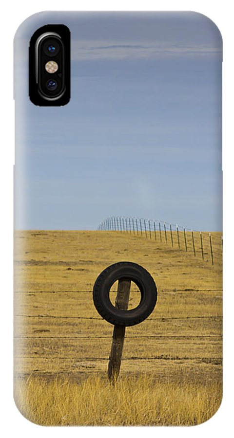 Tire IPhone X Case featuring the photograph Do Not Enter by Nicholas Evans