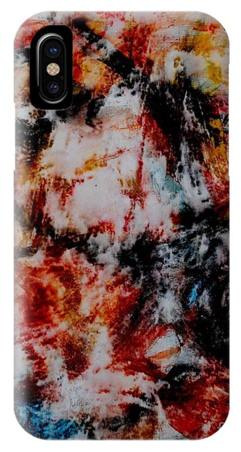 Modern IPhone X Case featuring the painting Dolaniiccii by Alex Blaha