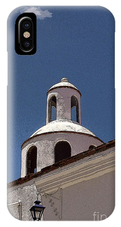 Mexico IPhone X Case featuring the photograph Dome And Cloud Mineral De Pozos Mexico by John Mitchell