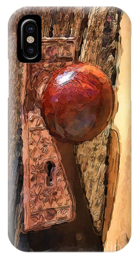 Ghost Town IPhone X Case featuring the painting Doorway To The Past by Brenda Deem