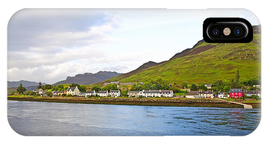 Dornie IPhone X Case featuring the photograph Dornie Village by Chris Thaxter