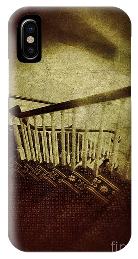 Stairs IPhone X Case featuring the photograph Down A Staircase by Jill Battaglia
