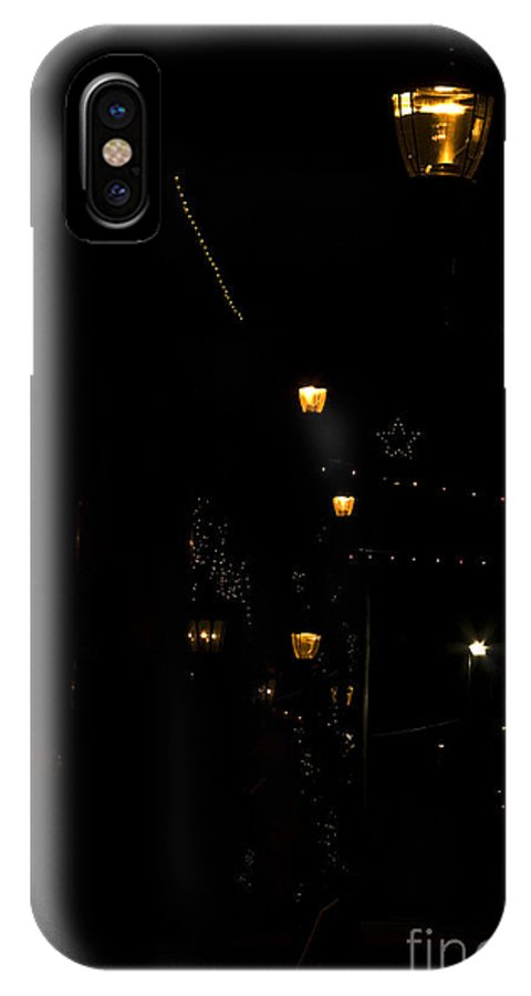Christmas Lights IPhone X Case featuring the photograph Down Town by Kim Henderson