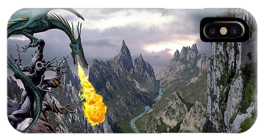 Dragon IPhone X Case featuring the photograph Dragon Valley by The Dragon Chronicles - Garry Wa