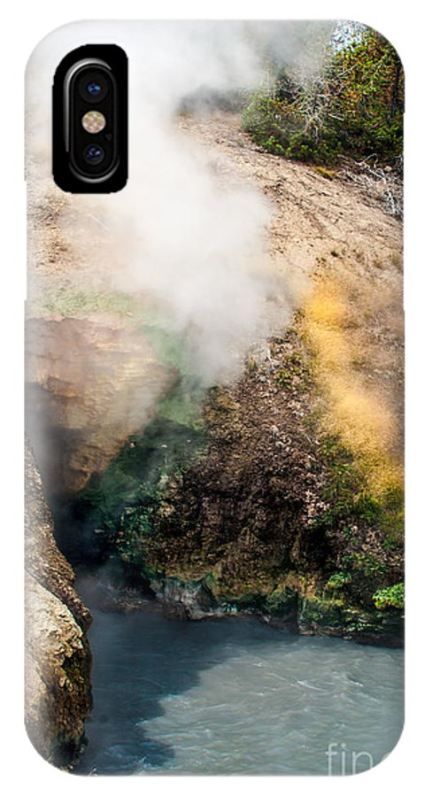 Geyser IPhone X Case featuring the photograph Dragon's Mouth by Robert Bales