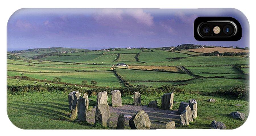 Drombeg Stone Circle IPhone X Case featuring the photograph Drombeg Stone Circle by David Nunuk