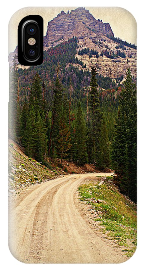 Mountains IPhone X Case featuring the photograph Dubois Mountain Road by Marty Koch