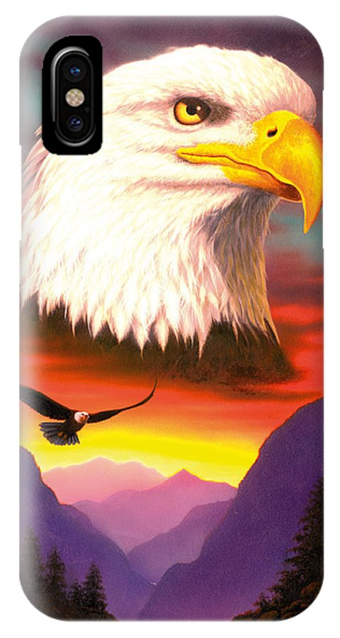 Animal IPhone X Case featuring the photograph Eagle by MGL Studio - Chris Hiett