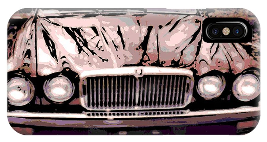 Early IPhone X / XS Case featuring the photograph Early Jaguar Xj6 by George Pedro