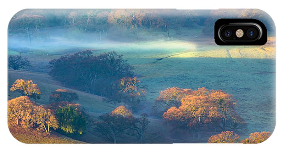 Landscape IPhone X Case featuring the photograph Early Morning Colors by Marc Crumpler