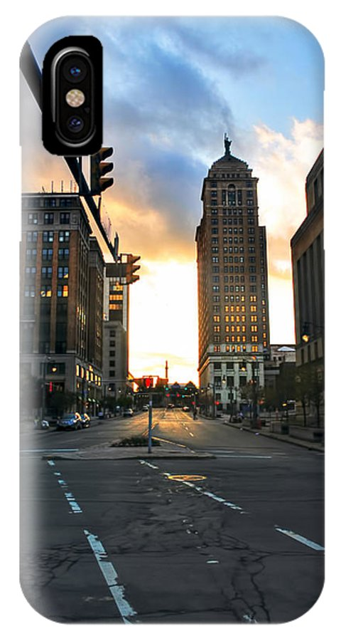 IPhone X Case featuring the photograph Early Morning Court Street by Michael Frank Jr