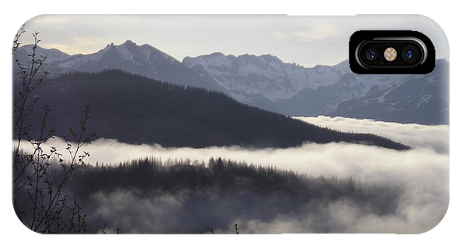 Fog IPhone X Case featuring the photograph Early Morning Fog by Catherine Helmick