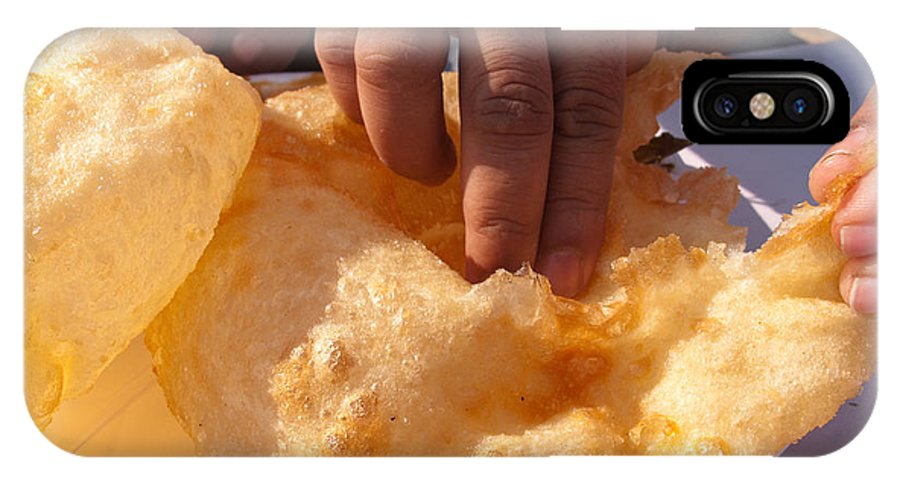 India IPhone X Case featuring the photograph Eating By Hand The Indian Delicacy Of Chole Bhature by Ashish Agarwal