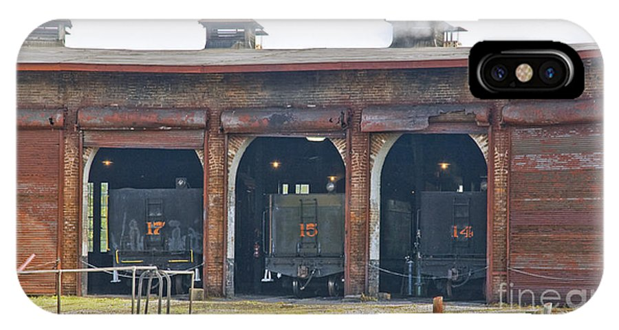 East Broad Top IPhone X Case featuring the photograph Ebt Roundhouse Closeup by Tim Mulina