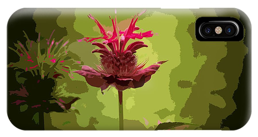 Flower IPhone X / XS Case featuring the photograph Editing With One Eye Open by Trish Tritz