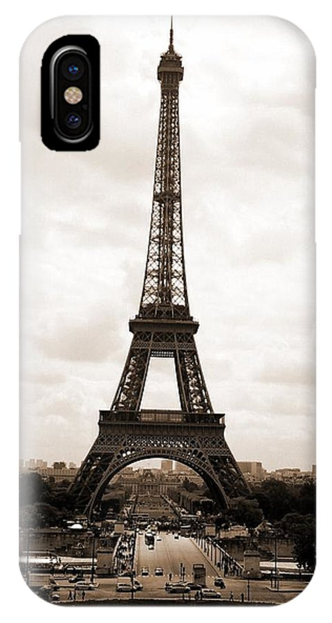 Paris IPhone X Case featuring the photograph Eiffel Tower by Pat Purdy