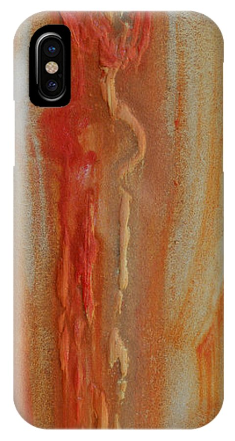 Love Orange Yellow IPhone X / XS Case featuring the painting El Abrazo 8 by Jorge Berlato