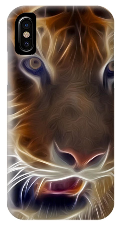 Tiger IPhone X Case featuring the photograph Electric Tiger by Susan Candelario